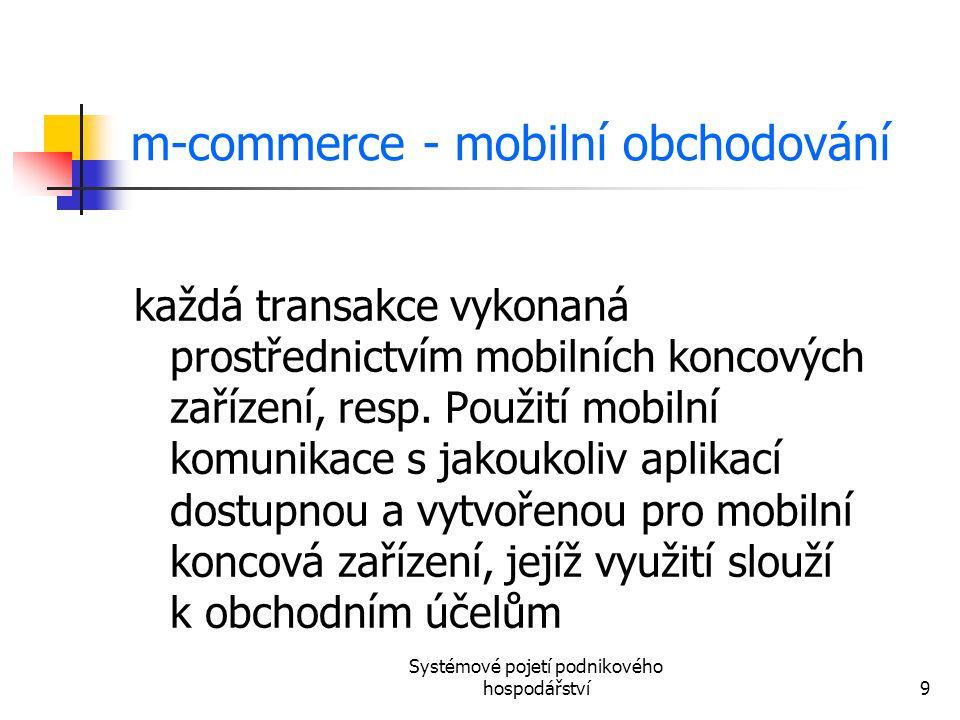 m-commerce - mobilní obchodování