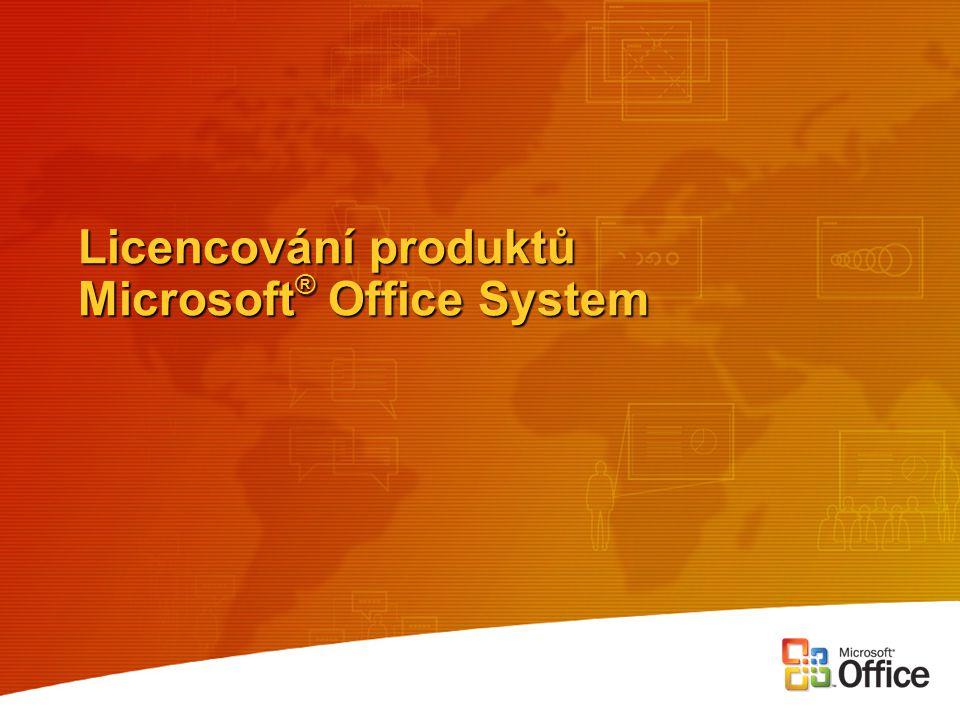 Licencování produktů Microsoft® Office System