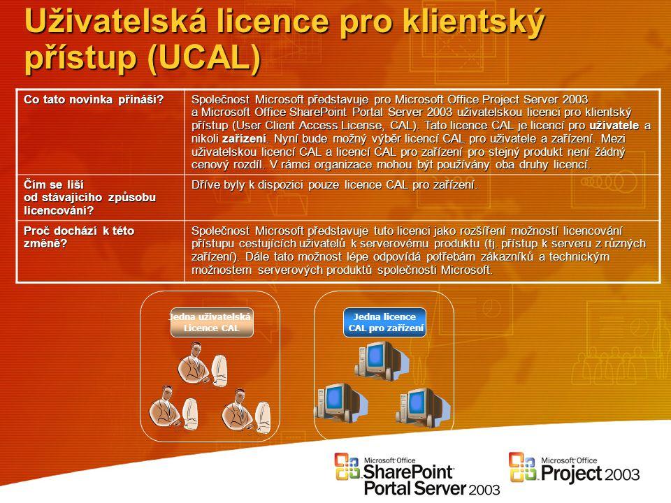 Uživatelská licence pro klientský přístup (UCAL)