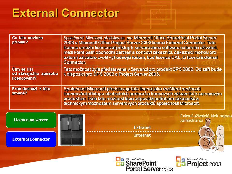 External Connector Co tato novinka přináší