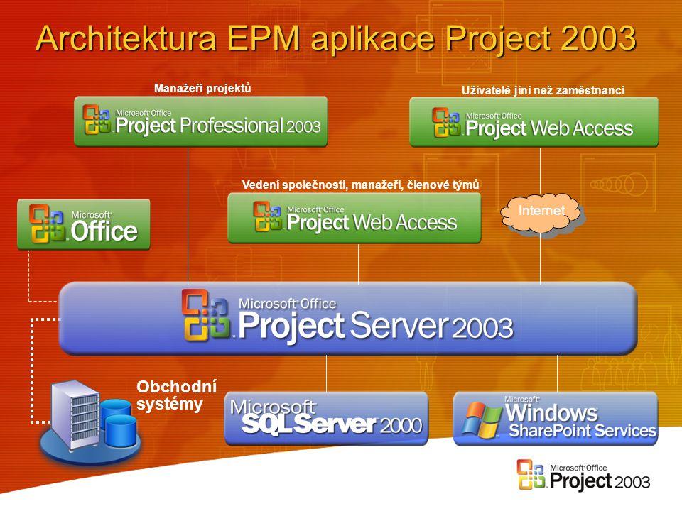 Architektura EPM aplikace Project 2003
