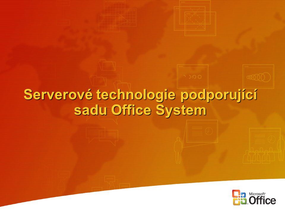 Serverové technologie podporující sadu Office System