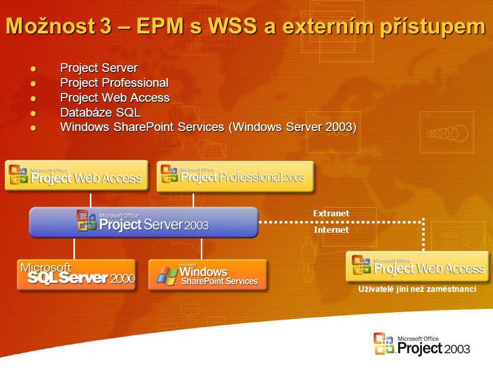 Možnost 3 – EPM s WSS a externím přístupem