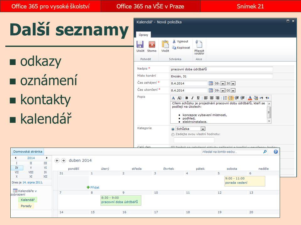 Office 365 pro vysoké školství