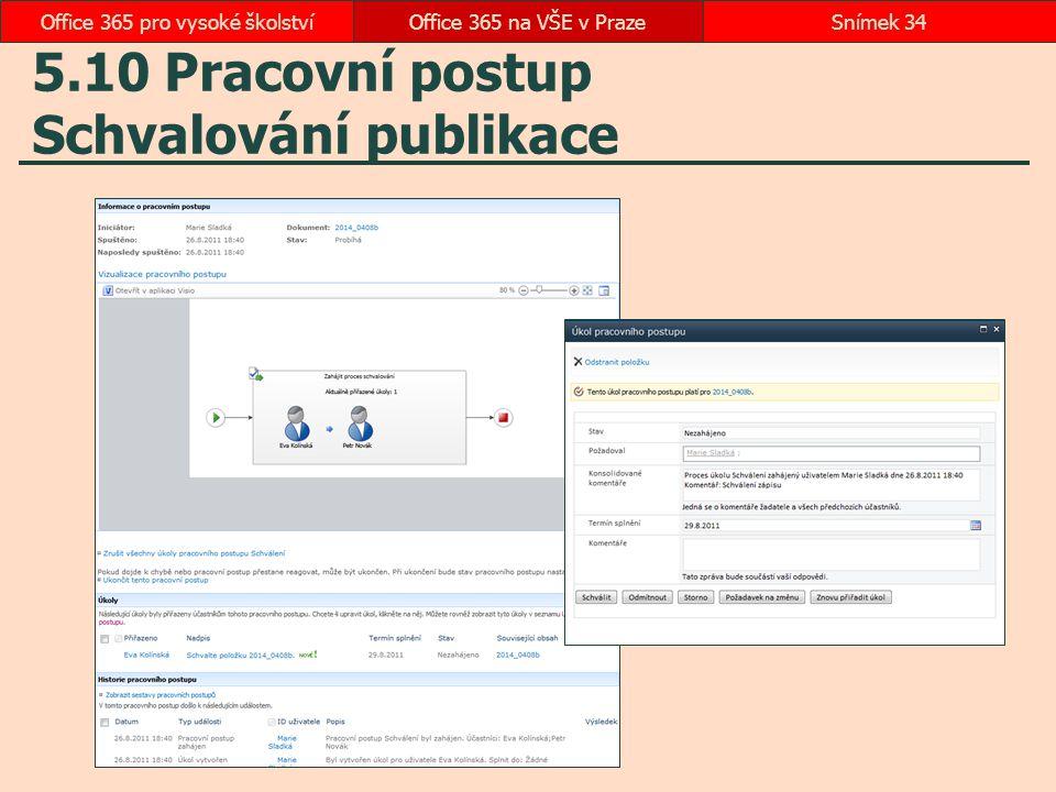 5.10 Pracovní postup Schvalování publikace