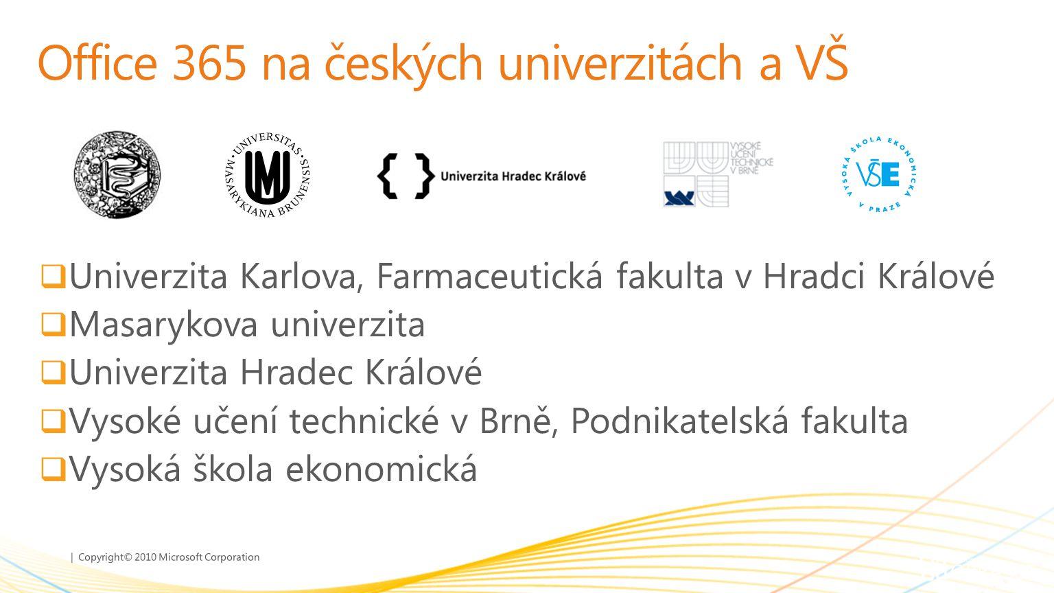 Office 365 na českých univerzitách a VŠ