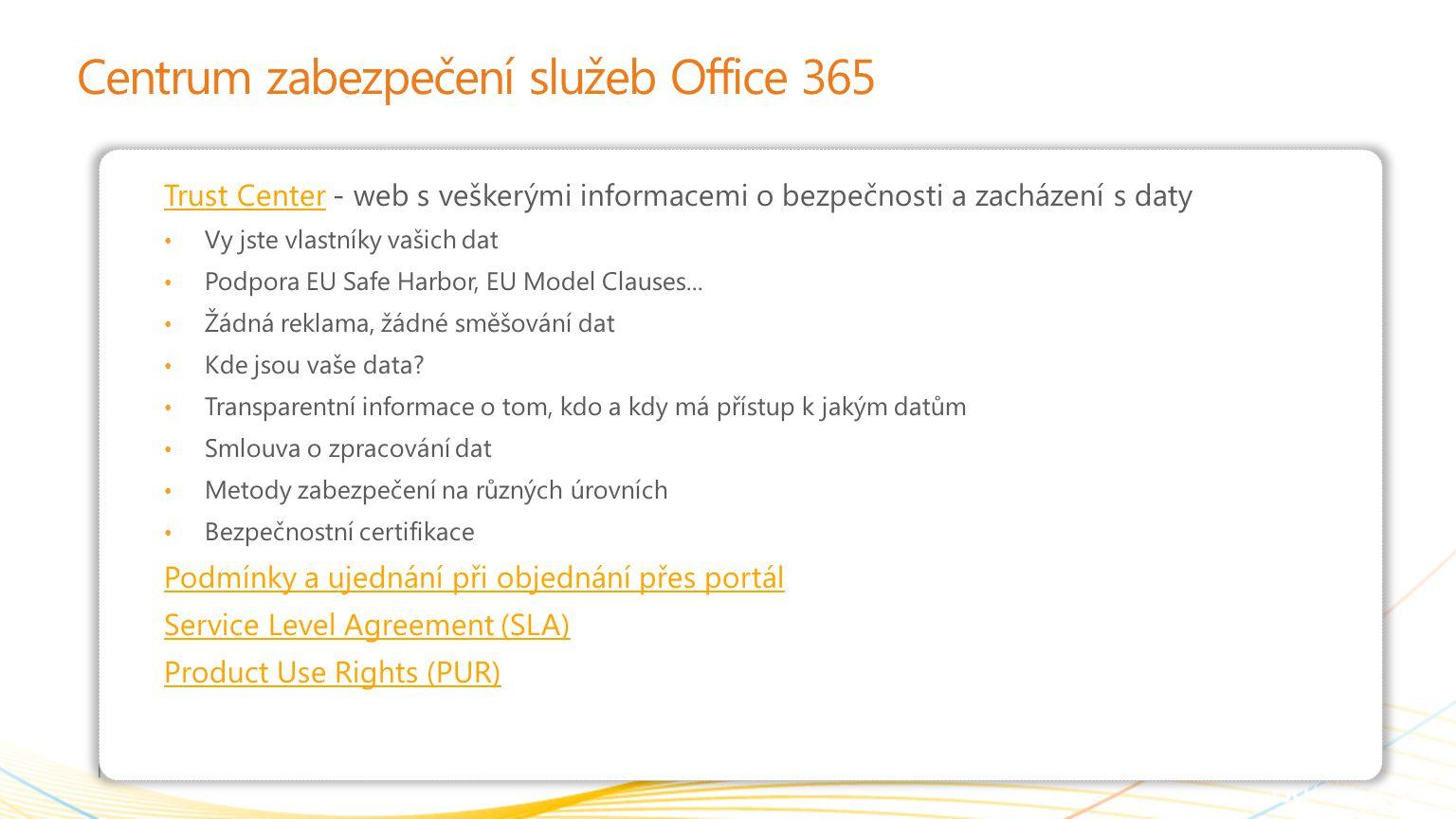 Centrum zabezpečení služeb Office 365