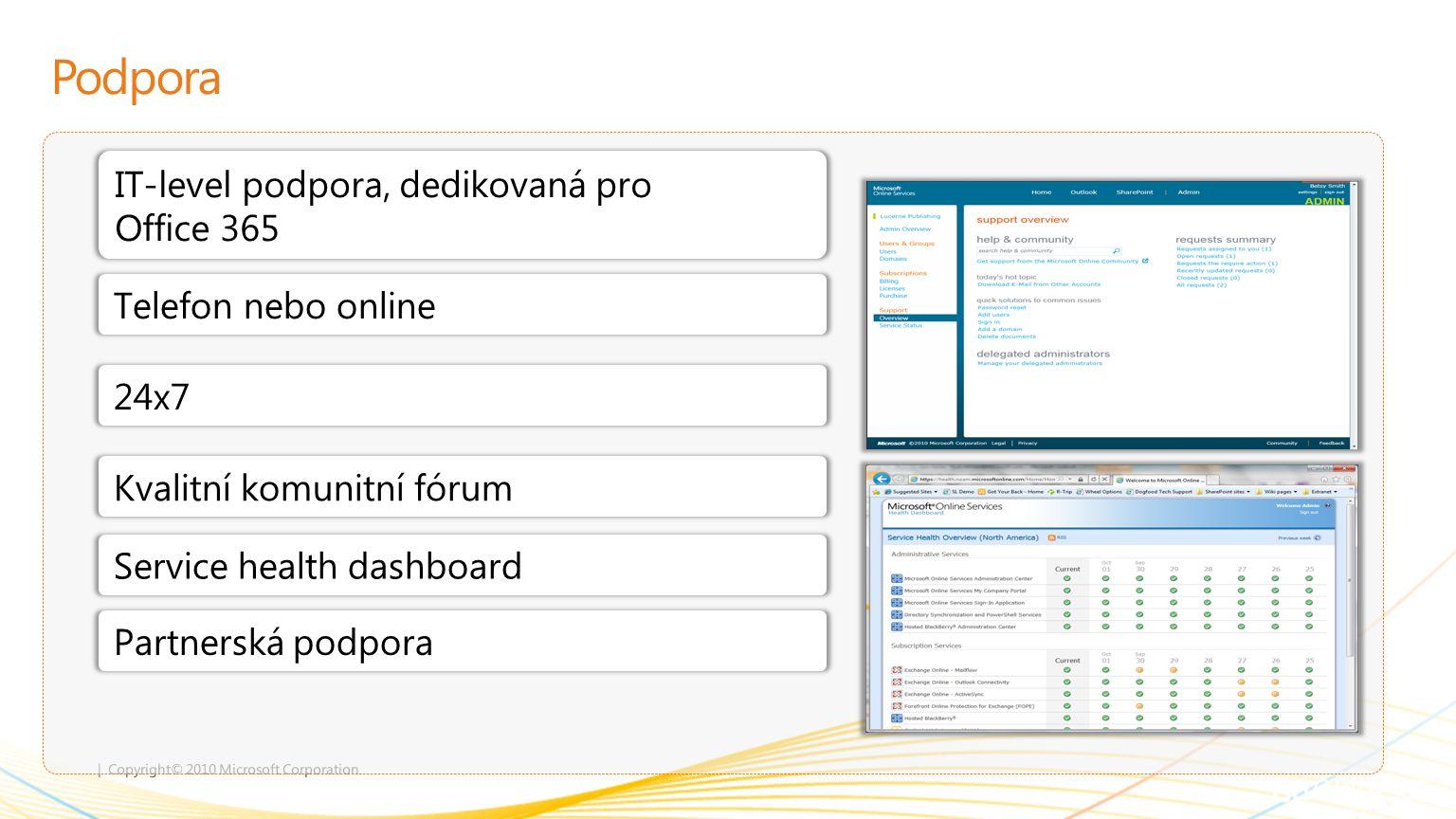 Podpora IT-level podpora, dedikovaná pro Office 365