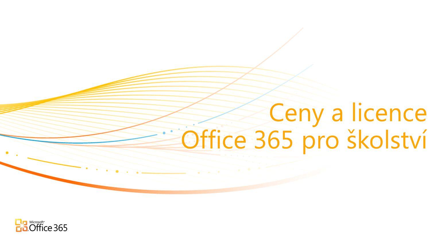 Ceny a licence Office 365 pro školství