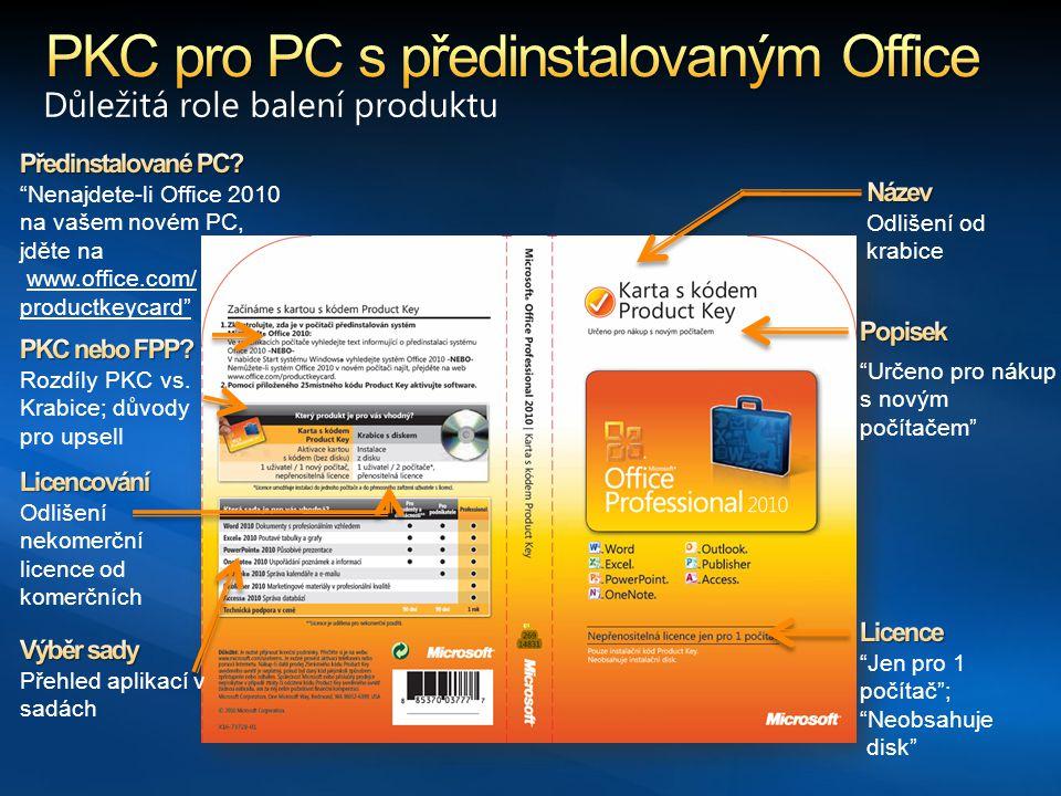 PKC pro PC s předinstalovaným Office
