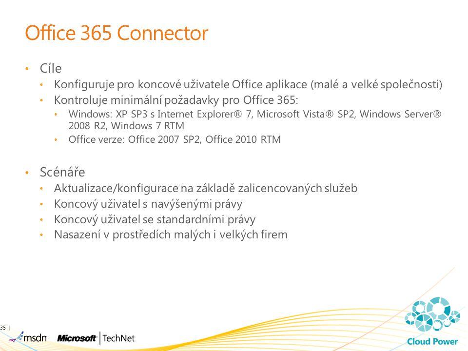Office 365 Connector Cíle Scénáře