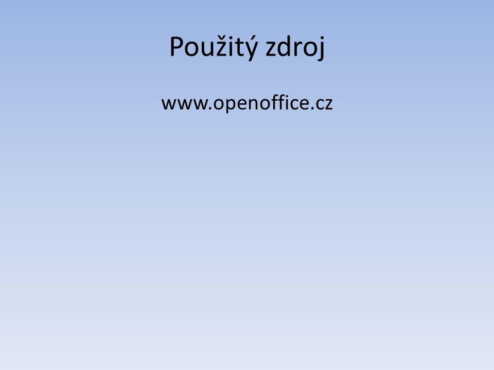 Použitý zdroj www.openoffice.cz