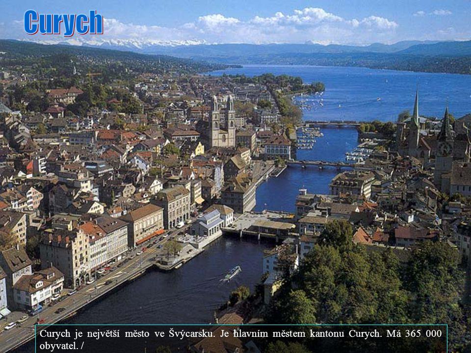 Curych Curych je největší město ve Švýcarsku. Je hlavním městem kantonu Curych.