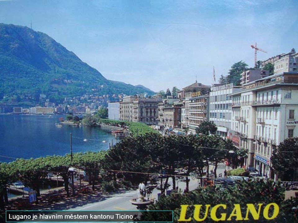 Lugano je hlavním městem kantonu Ticino .