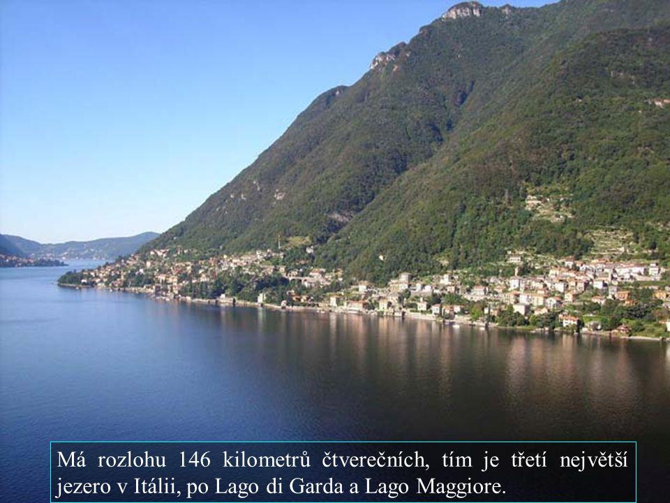 Má rozlohu 146 kilometrů čtverečních, tím je třetí největší jezero v Itálii, po Lago di Garda a Lago Maggiore.