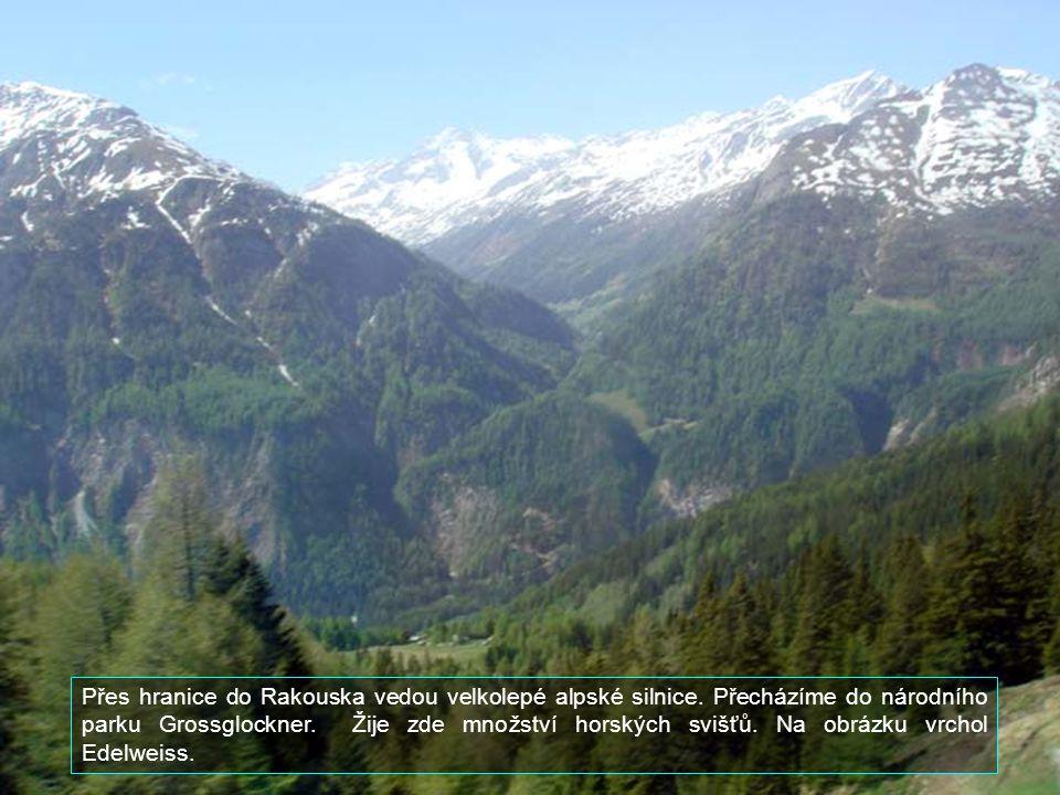 Přes hranice do Rakouska vedou velkolepé alpské silnice