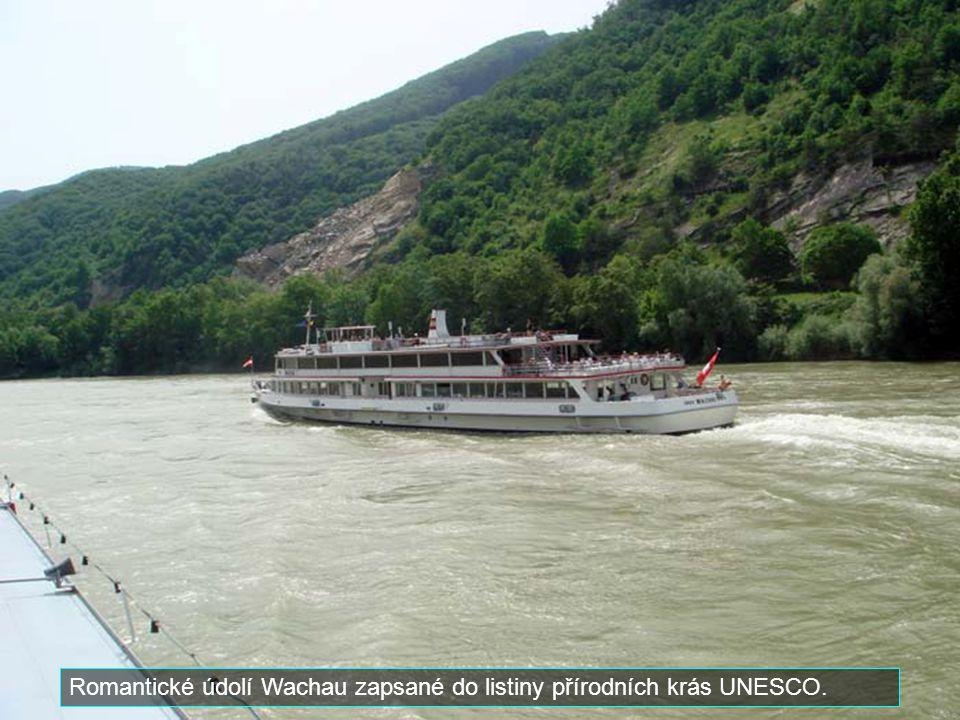 Romantické údolí Wachau zapsané do listiny přírodních krás UNESCO.