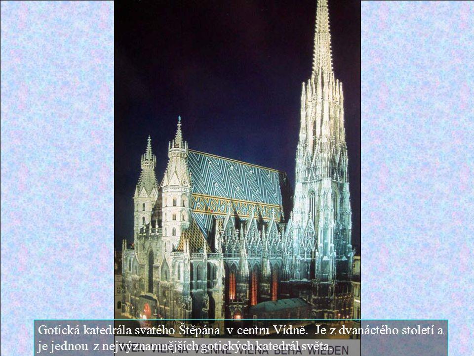 Gotická katedrála svatého Štěpána v centru Vídně