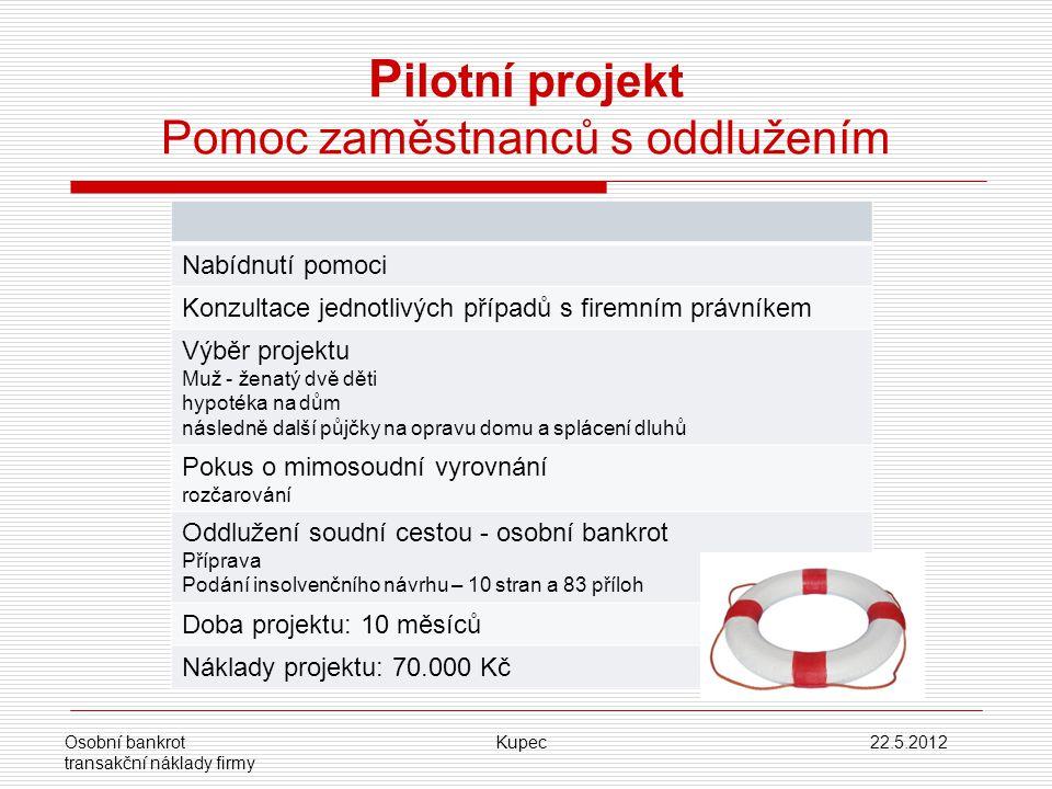 Pilotní projekt Pomoc zaměstnanců s oddlužením