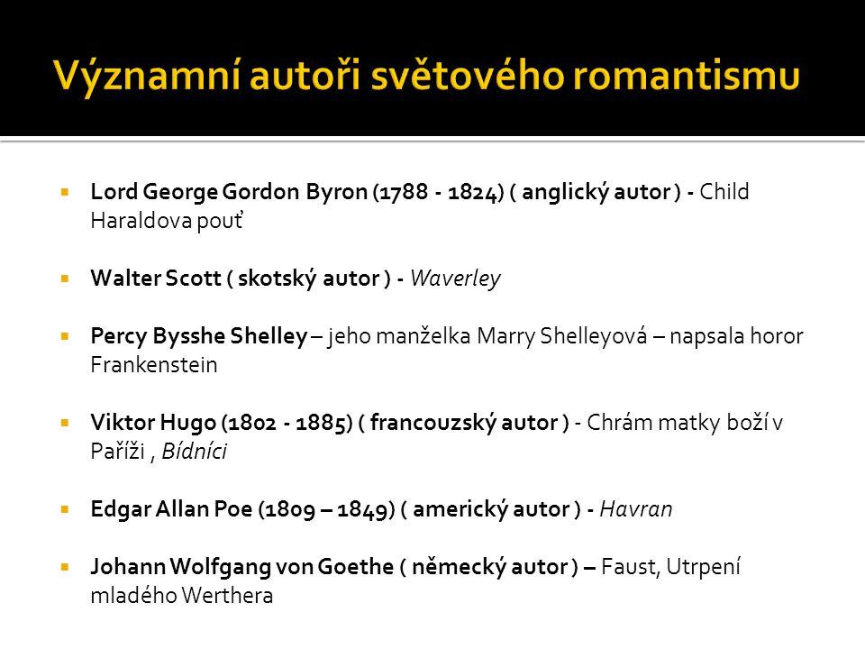 Významní autoři světového romantismu