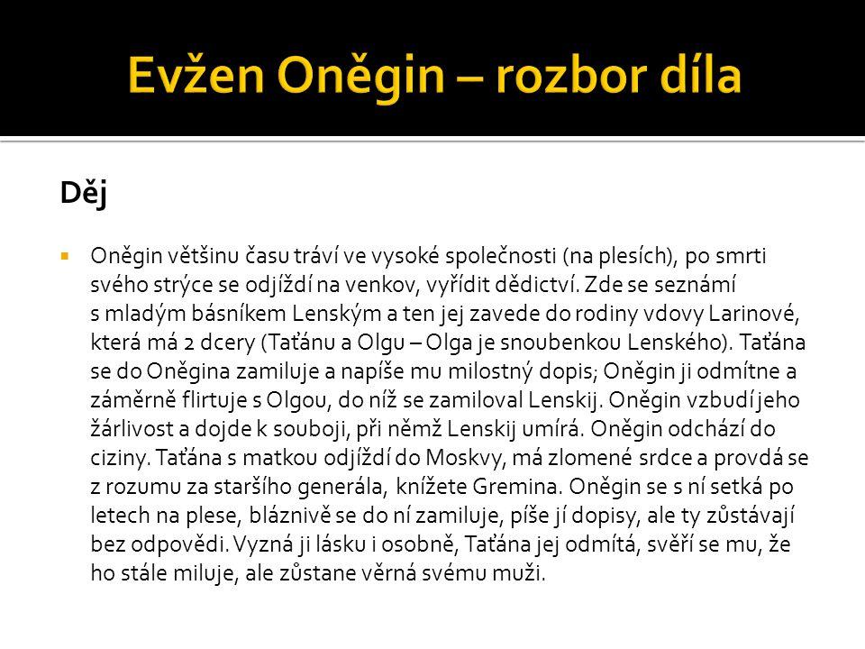 Evžen Oněgin – rozbor díla
