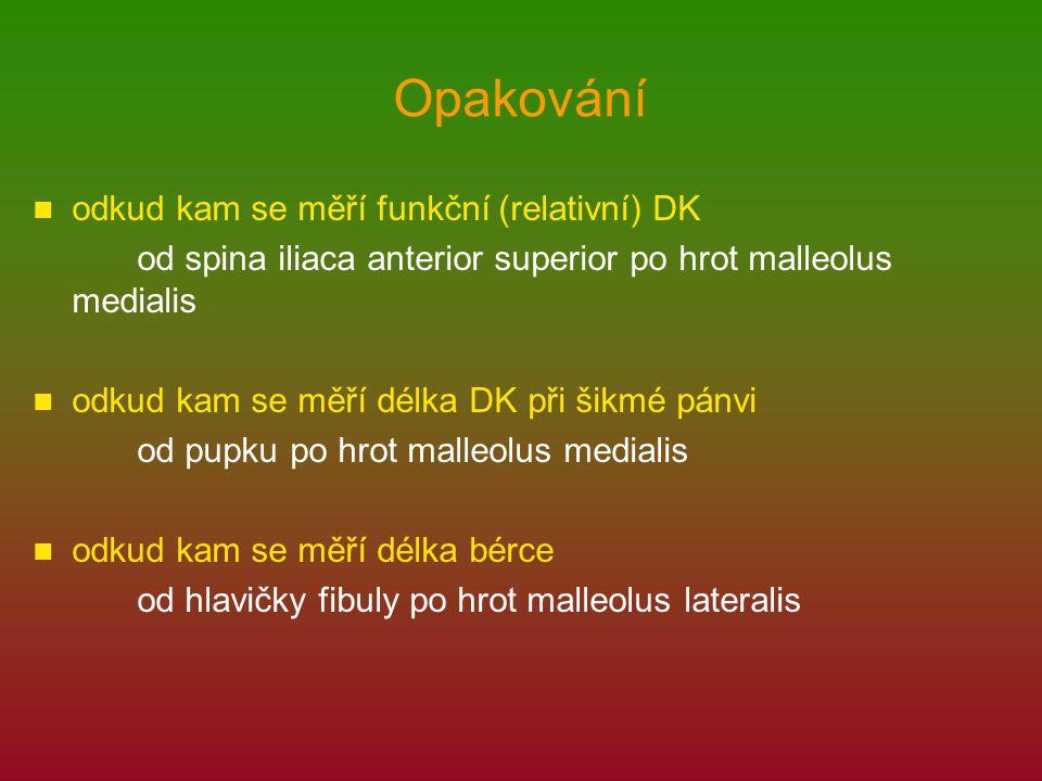 Opakování odkud kam se měří funkční (relativní) DK