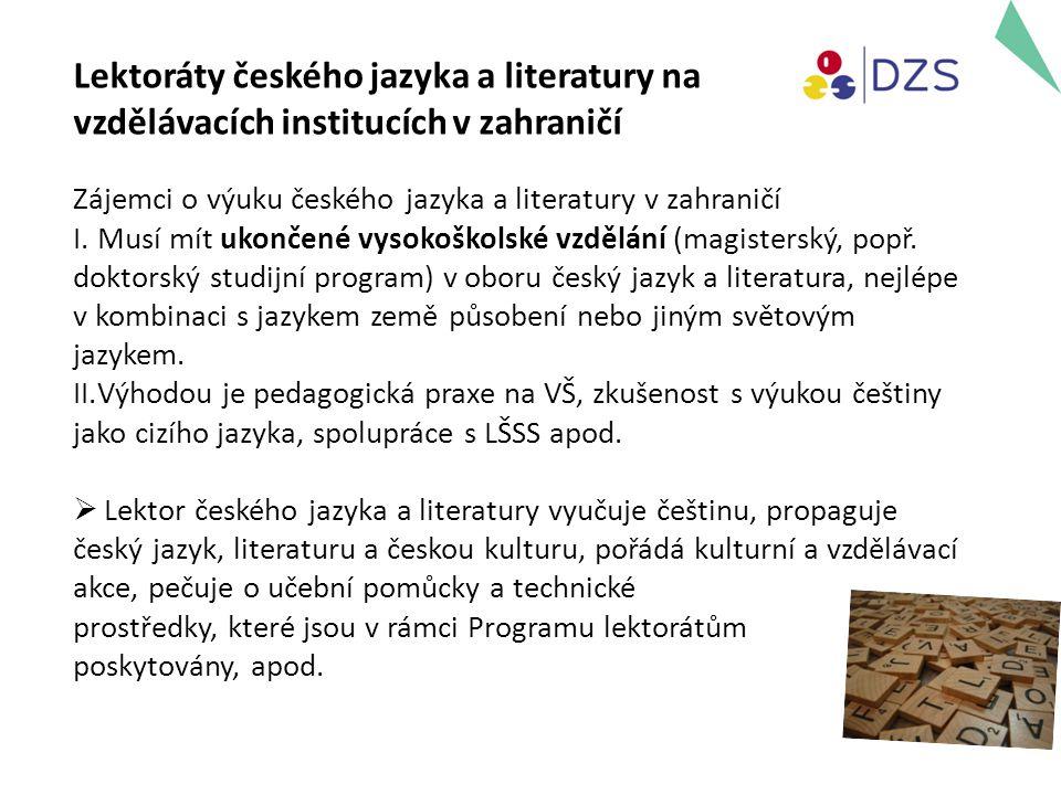 Lektoráty českého jazyka a literatury na vzdělávacích institucích v zahraničí