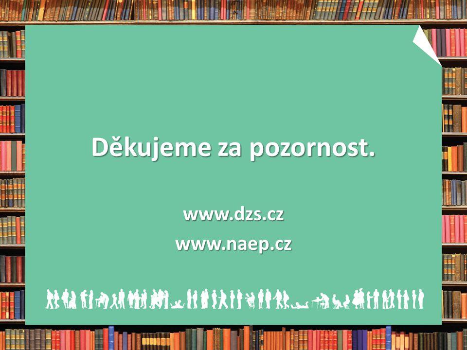 Děkujeme za pozornost. www.dzs.cz www.naep.cz