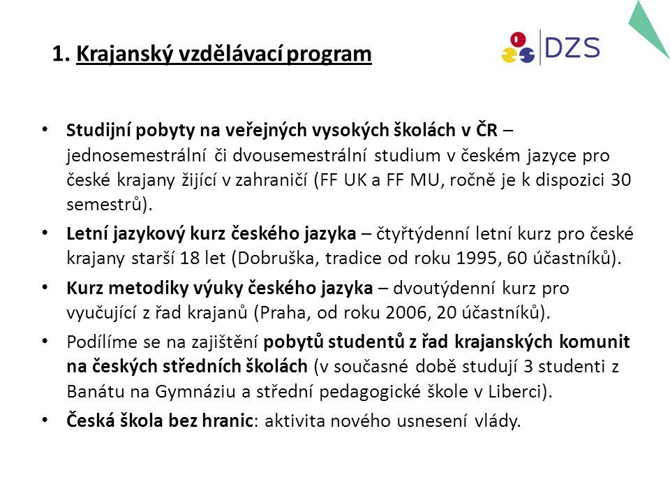 1. Krajanský vzdělávací program