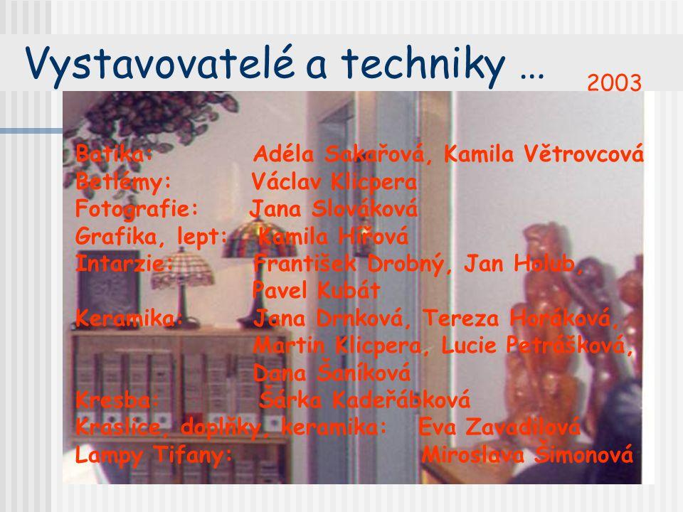 Vystavovatelé a techniky …