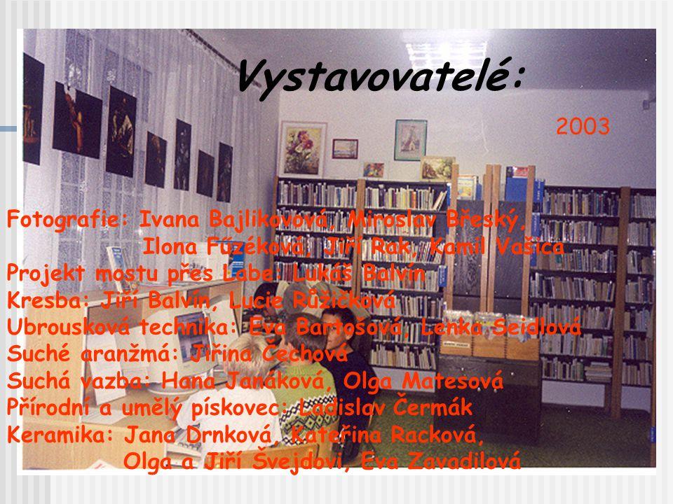 Vystavovatelé: 2003 Fotografie: Ivana Bajlikovová, Miroslav Břeský,