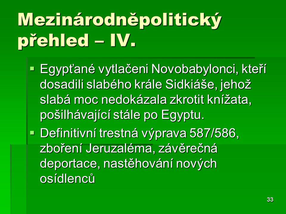 Mezinárodněpolitický přehled – IV.