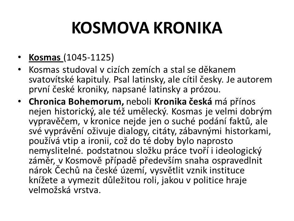 KOSMOVA KRONIKA Kosmas (1045-1125)