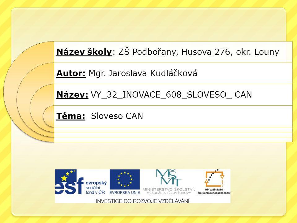 Název školy: ZŠ Podbořany, Husova 276, okr. Louny
