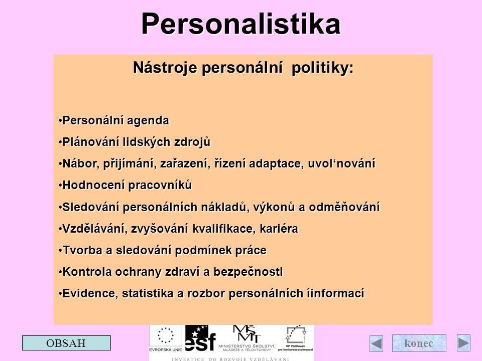 Nástroje personální politiky: