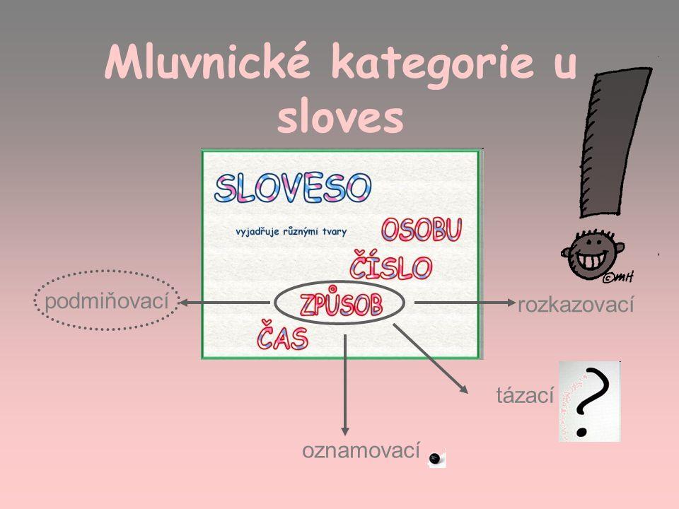 Mluvnické kategorie u sloves