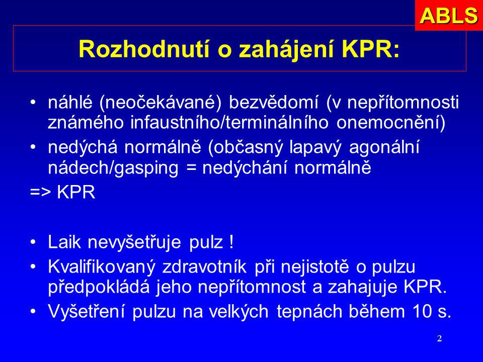 Rozhodnutí o zahájení KPR: