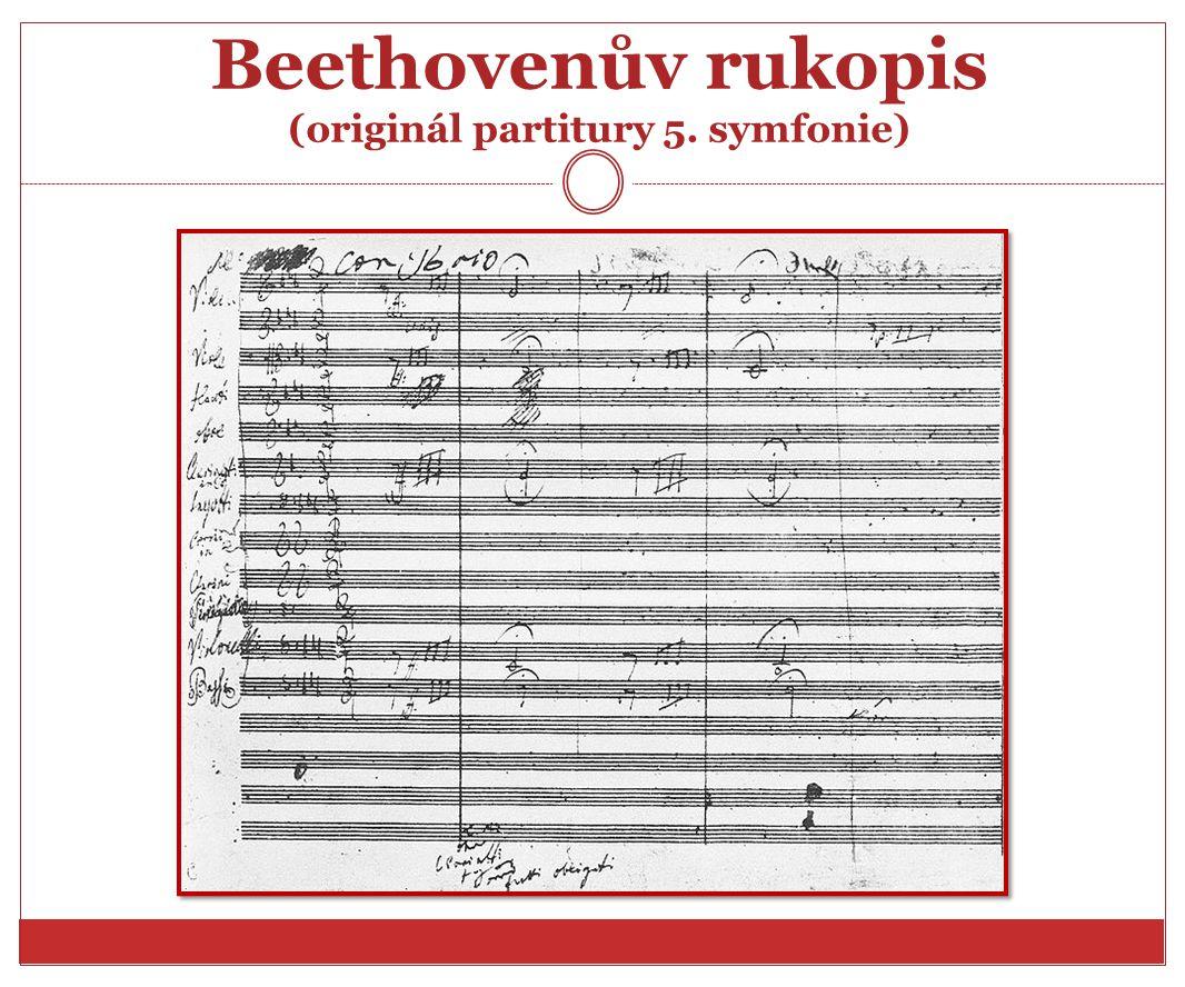 Beethovenův rukopis (originál partitury 5. symfonie)
