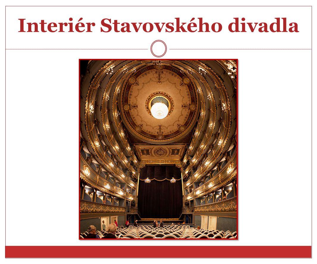 Interiér Stavovského divadla