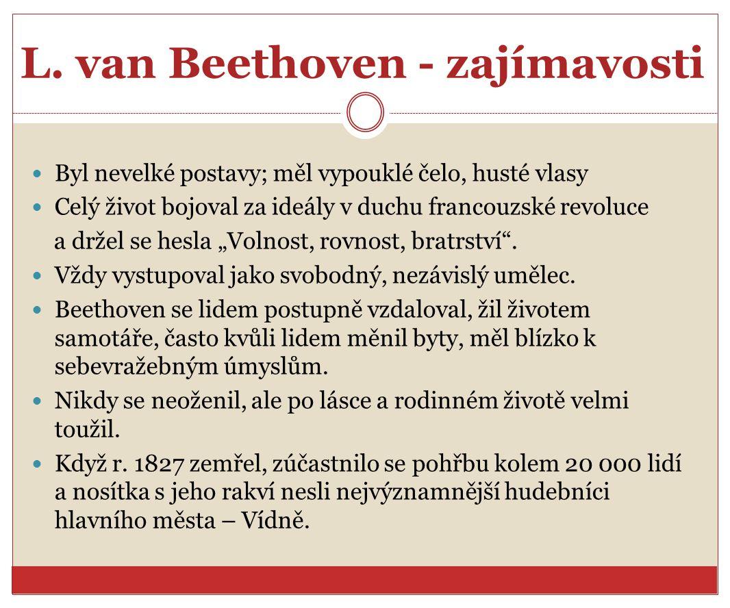 L. van Beethoven - zajímavosti