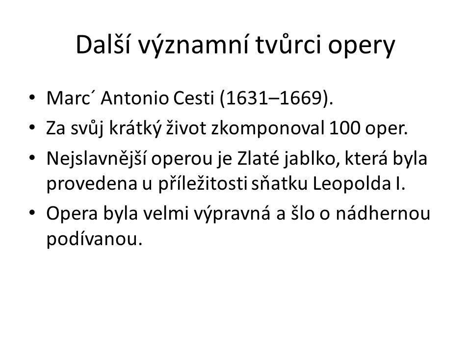 Další významní tvůrci opery