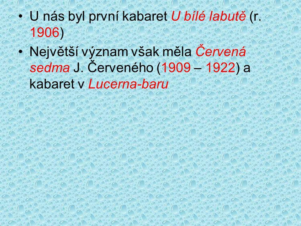 U nás byl první kabaret U bílé labutě (r. 1906)