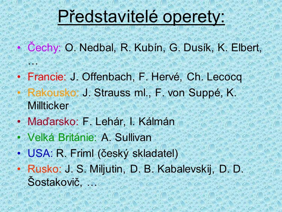 Představitelé operety: