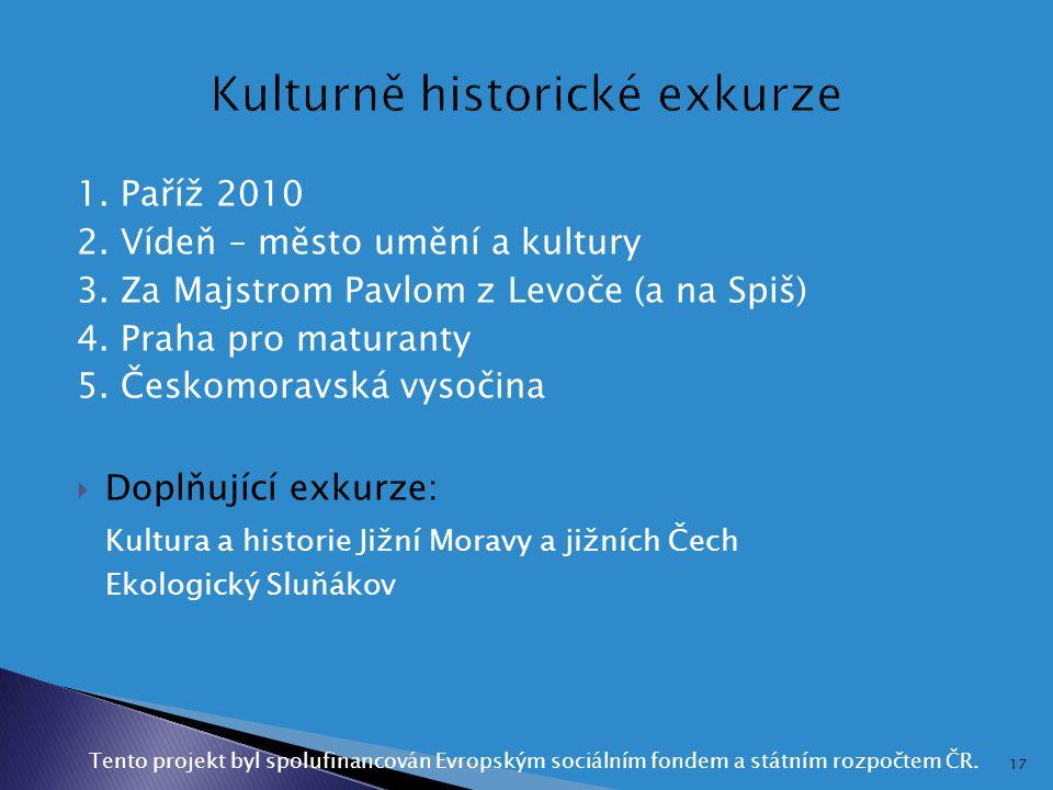 Kulturně historické exkurze