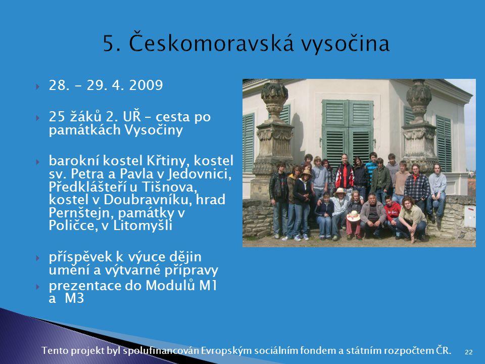 5. Českomoravská vysočina
