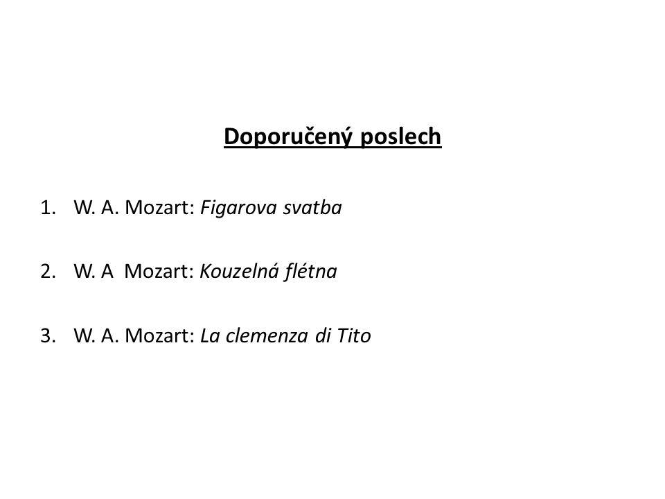 Doporučený poslech W. A. Mozart: Figarova svatba