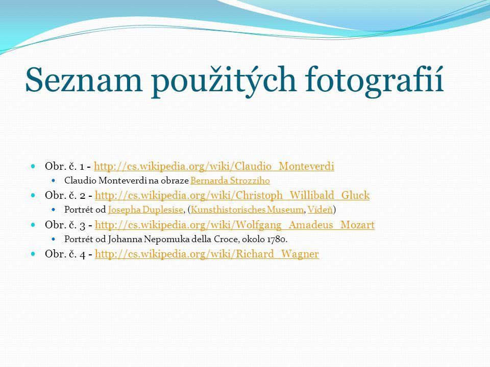 Seznam použitých fotografií