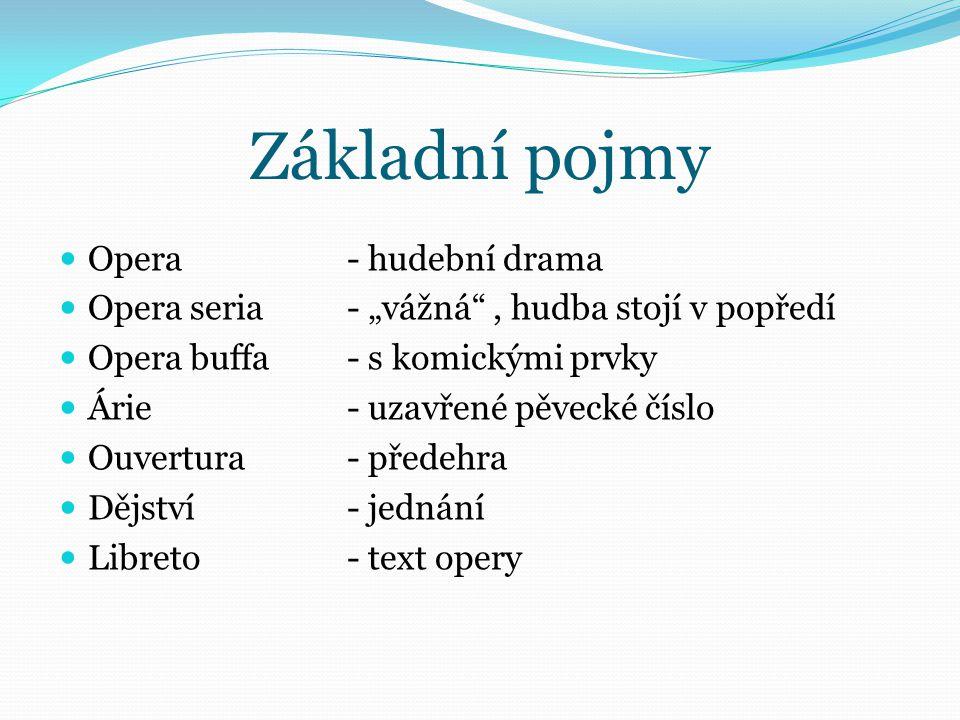 Základní pojmy Opera - hudební drama