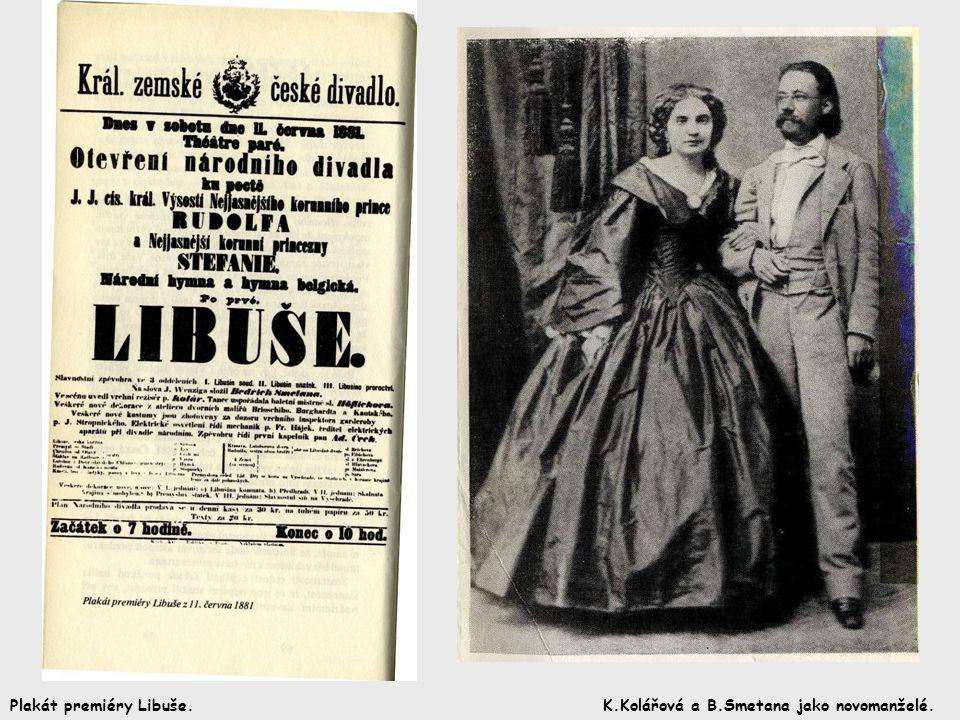 Plakát premiéry Libuše.