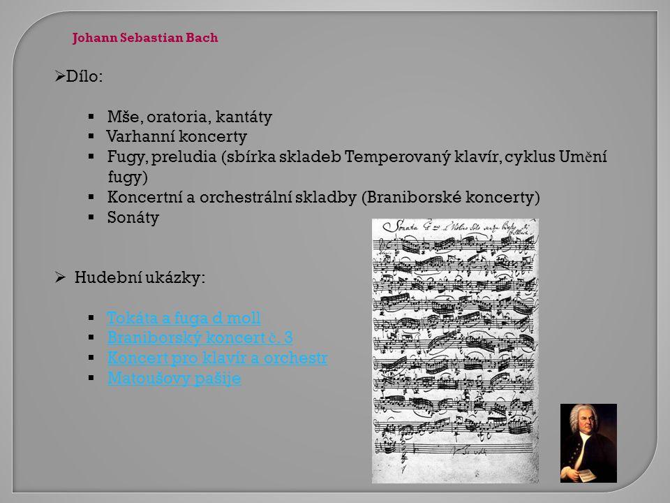 Fugy, preludia (sbírka skladeb Temperovaný klavír, cyklus Umění fugy)